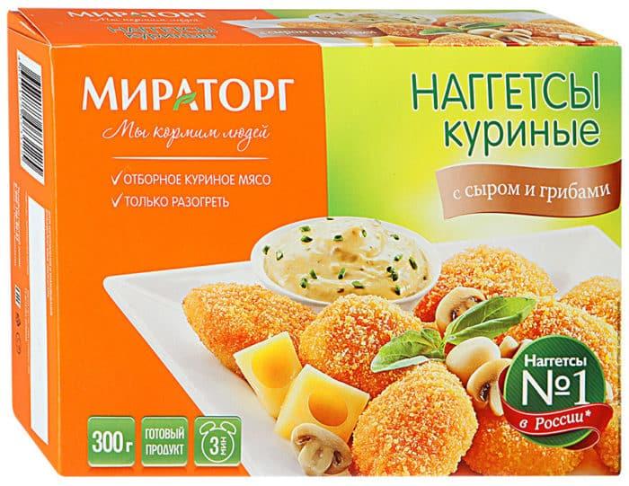 наггетсы с сыром и грибами